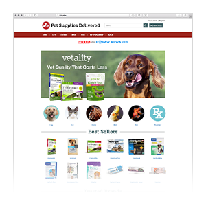Pet Supplies Delivered Homepage