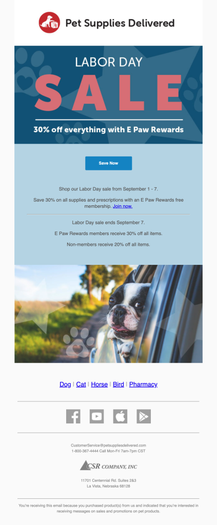 Pet Supplies Delivered Email